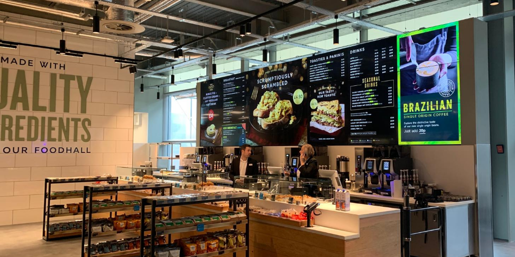 Digital Menu Video Wall – Marks and Spencer Cafe