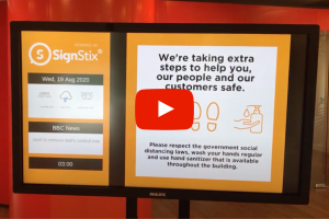 Corporate Communications Reception Screen Example From SignStix
