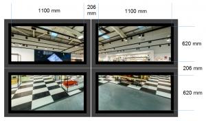 SignStix Video Wall Dimensions