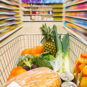Supermarket warehouse install digital signage